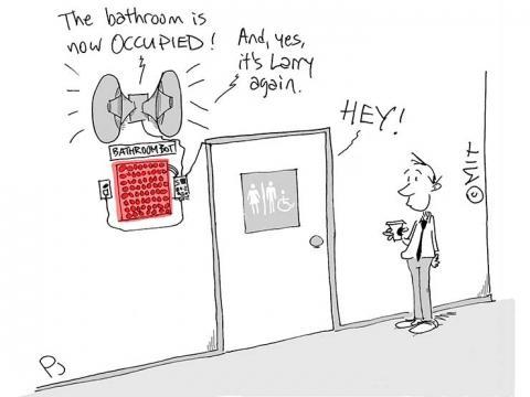 Bathroombot cartoon