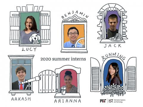 IS&T summer interns Lucy, Benjamin, Jack, Aakash, Arianna, Runming