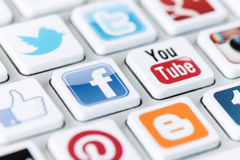 social media keyboard image