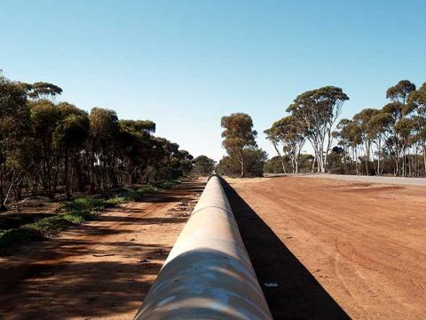 A pipeline for fresh water in Australia