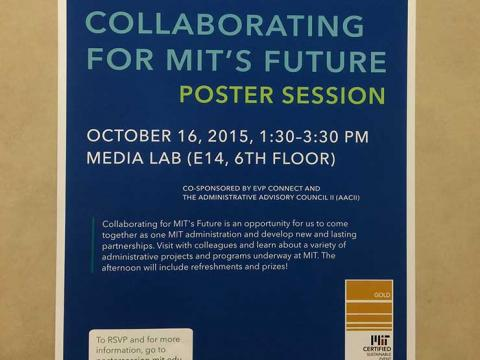 Post advertising Collaborating for MIT's Future Poster Session