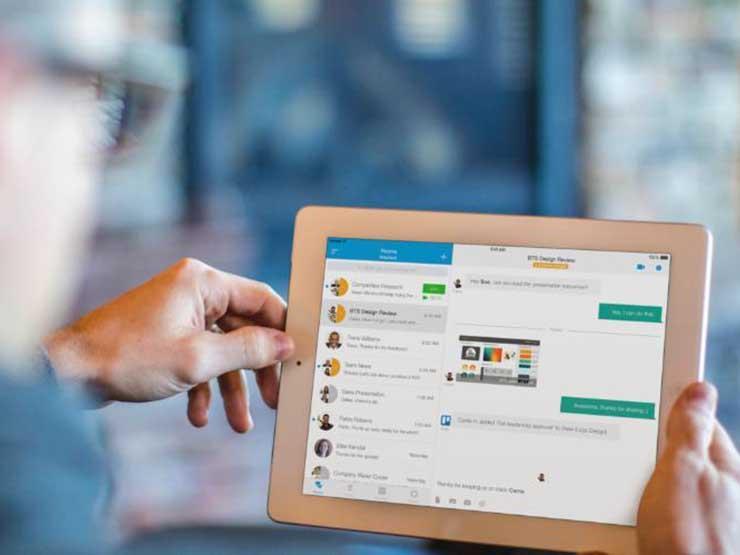 iPad using WebEx