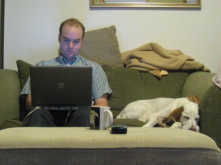 image of person working remotely