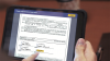 docusign on a tablet